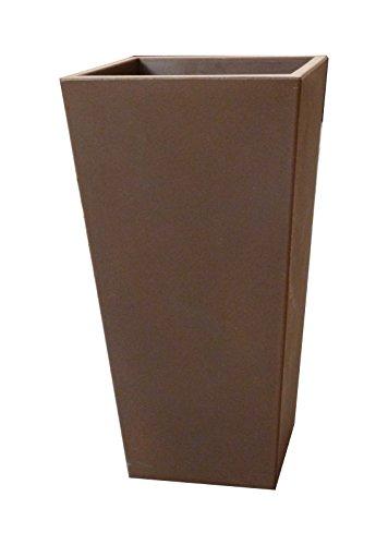 Garage du Kochersberg Pot de Fleur intérieur & extérieur - L.30cm x l.30cm x H.58cm - Couleur Noir