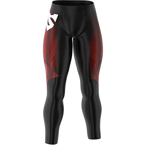 SMMASH Muscle Deportivo Largo Leggins Hombre, Pantalones Largo Deporte Dombre por un Gimnasio de Yoga Corrientes, Material Transpirable y Antibacteriano, (XL)