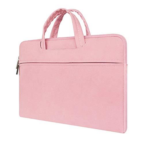 MasiBloom® Zachte Nubuck Lederen Draagbare Laptop Case Frosted Sleeve Bag met Fluweel voor 13