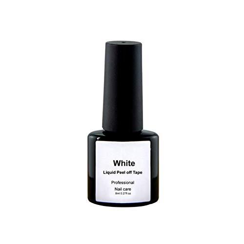 CWJCZY Cuticules Liquides Enlever Le Latex 8Ml Peel Off Rose Blanc Protection Gel Defender Vernis À Ongles Soins De La Peau Manucure Propre