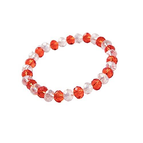 Europeo y americano 8 mm de cristal natural color a juego pulsera personalidad creativa cuentas de cristal moda Diy colgante, rojo