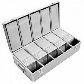 Prodye DJ koffer Geschikt voor 1000 CD/DVD/Blu-ray, ABS, Zilver