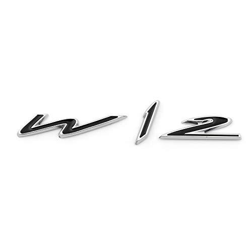 Topteng Metallflügel W12 Emblem Badge Aufkleber für Bent-ley Ge-nuing Con-tinental G-T G-T-C