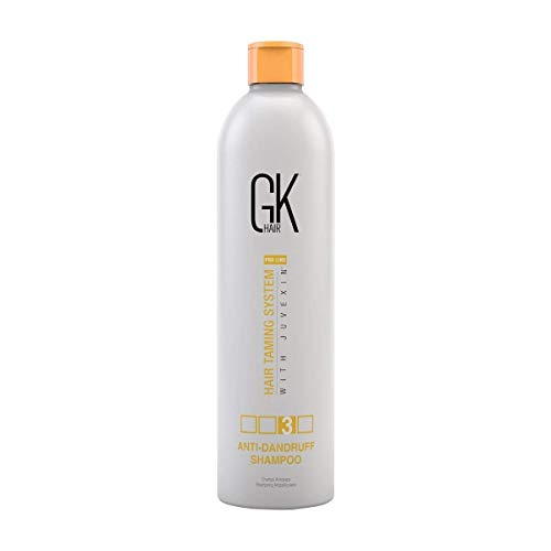 Global Keratin GK Hair Anti Dandruff Shampoo - Hair Deep Cleansing and Impurities Remover Anti Residue Sulfate Free Shampoo for Dry Damaged Hair for Men and Women (250ml / 8.5 oz)