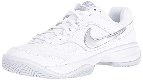 Nike Women's Court Lite Tennis Shoe, White/Metallic Silver/Medium Grey, 7 Regular US