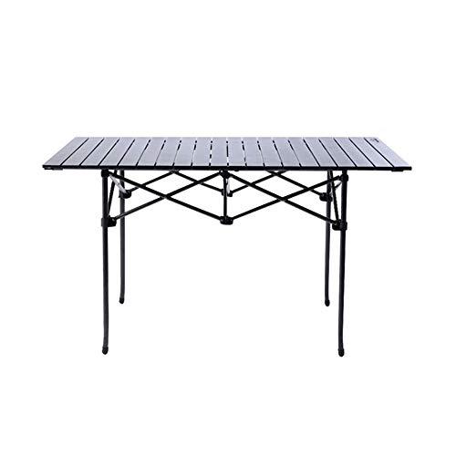 DHFUIH Mesas enrollables para Acampar Mesa Plegable de Aluminio Ultraligero con Bolsa...