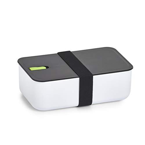 Zeller 14732 Lunch Box, Kunststoff, weiß/schwarz/grün, ca. 19 x 12 x 6,5 cm