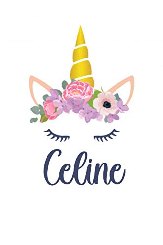 Celine: Personalized Name Lined Journal Diary Notebook 120 Pages, 6