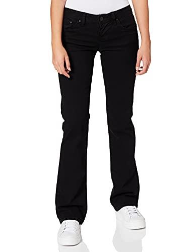 LTB Jeans Damen Boot-Cut Jeans Valerie, Schwarz (BLACK 200), W34/L32 (Herstellergröße: 34)