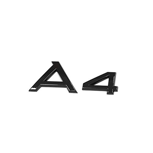 Audi 8W0853741T94 Schriftzug A4 Exclusive Black Edition Emblem Blackline Aufkleber, schwarz