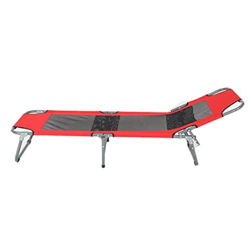 LZL Cuna de Cama para Acampar Militar portátil, Bolsa de Almacenamiento Gratuito para Adultos de Servicio Pesado, Cuna para Dormir más Robusta Profesional (Color : Red)