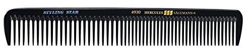 Hercules Sägemann 4930 Peigne de tondeuse à cheveux professionnel en caoutchouc naturel avec 2 dentures extra grossières et grossières 17,5 cm (7,5\