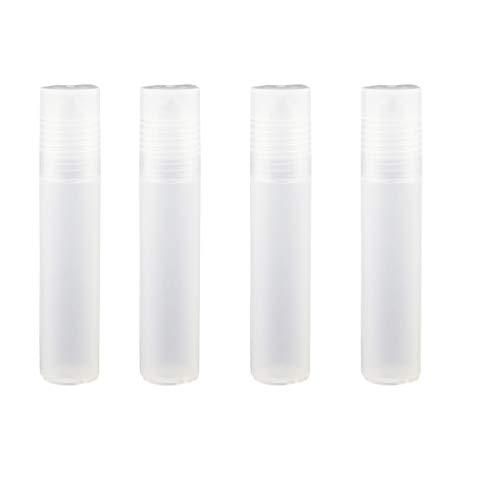 Guangcailun 4pcs Muchacha de la Mujer Transparente Botella de vacío, vacío Roll-on Botella, plástico Roll-on Botellas Esencial en Roll-Aceite con el Casquillo