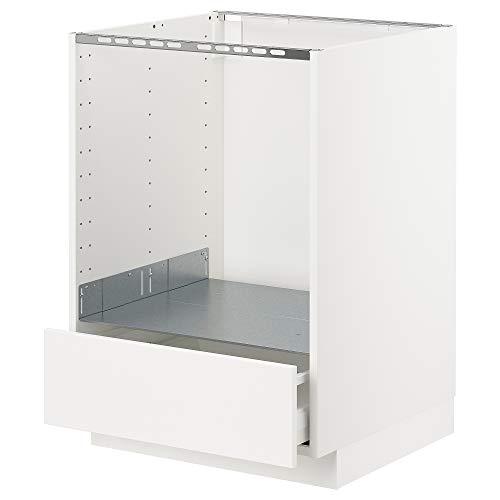 METOD/MAXIMERA Mueble base para horno con cajón 60x61.6x88 cm blanco/Veddinge blanco