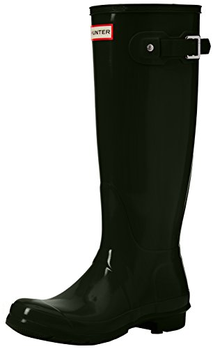 Hunter High Wellington Boots, Botas de Agua para Mujer, Verde (Dark Green/dov), 40/41 EU