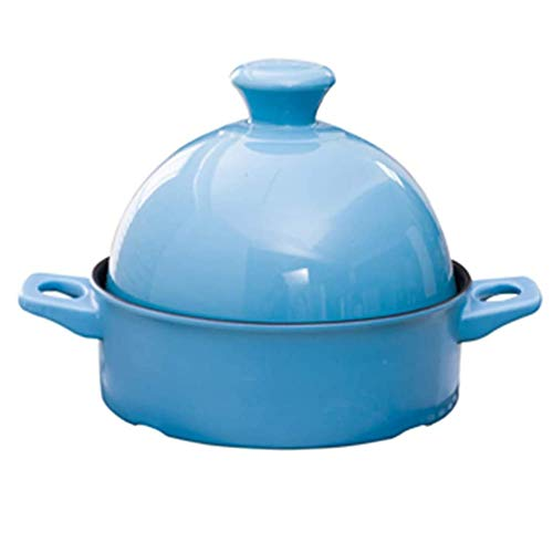 Tagine Pot Ceramic, Material Resistant to Dry Burning Anti-scalding Handle No Cracking, Easy to Clean Slow Cooker, for Medium to Extra Large Cooking