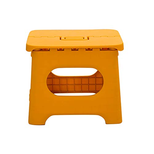 Savlot Opvouwbare kruk voor kinderen, voor op reis, opvouwbaar, kunststof, kleine stoel, huishouden, kleine geel