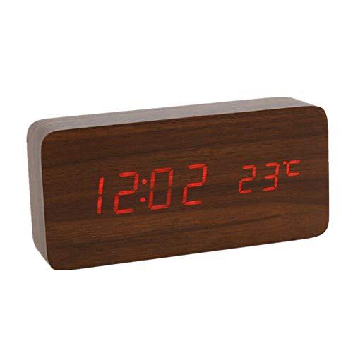 YoungYuan wecker funkwecker mit Beleuchtung Licht Wecker Bad Uhr Tischuhr LED Uhr Projektionsuhr Kinderwecker Sonnenaufgang Wecker Projektionswecker red 2