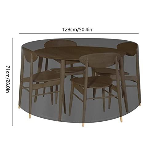HSYSA Muebles de jardín al Aire Libre Cubierta de Lluvia Muebles Negros Mesa de Mesa Conjunto de Silla Impermeable Cubierta Redonda Sofá Sofá Patio Patio de Lluvia Cubiertas de Polvo