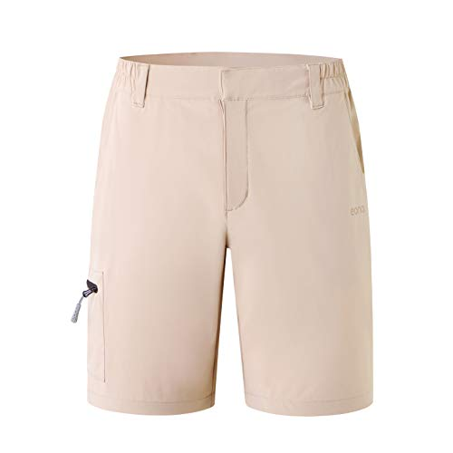 Eono Essentials Damenshorts   Khaki, Medium Outdoor Wandershorts|leichte