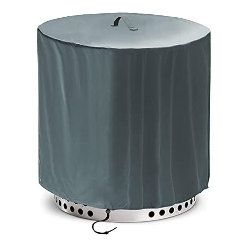 솔로 스토브 레인저 라운드 - 18 인치 헤비 듀티 420D 강한 방수 방진 태양 보호 캠핑 화재 구덩이 액세서리 그리기 로프 방풍 디자인에 적합 - 회색