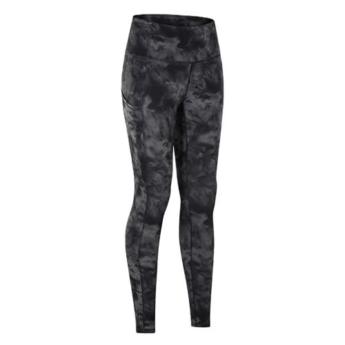 QTJY Pantalones de Yoga de Cintura Alta, Entrenamiento de compresión en Cuclillas para Mujeres, Mallas Deportivas para Correr, de Secado rápido y Estiramiento Alto ES