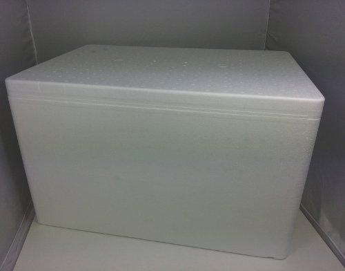 Styroporbox Pro/Thermobox - 50,3 Liter - 59,5 x 39,5 x 36,5 cm/Wandstärke 3,5 cm - Styrobox