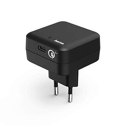 Hama USB-C Schnellladegerät, Quick Charge 4+/Power Delivery (Ladeadapter für Smartphone, Tablet, Notebook, Konsole, intelligenter 27 W Stromadapter mit Schnellladefunktion, Quick-Charge-3 kompatibel)
