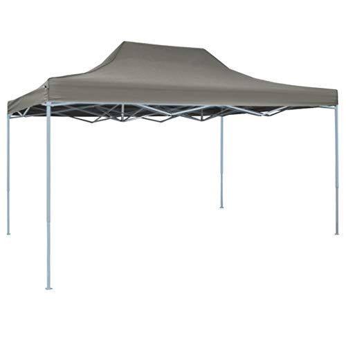 Lechnical Foldable professional party tent Gazebo Garden pavilion Waterproof UV protection pavilion for garden patio celebration 3 x4 m steel anthracite