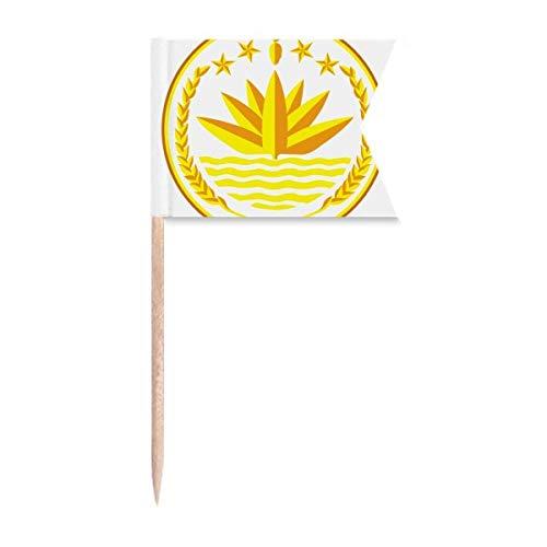 Dhaka Bangladesch Nationalemblem Zahnstocher Flaggen Kennzeichnung für Party Kuchen Lebensmittel Käseplatte