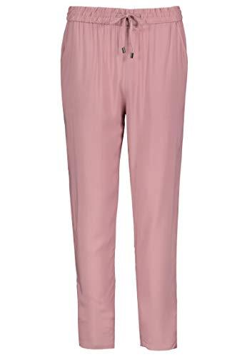 Sublevel Damen Stoff-Hose mit Bindegürtel aus Viskose Light-Rose L