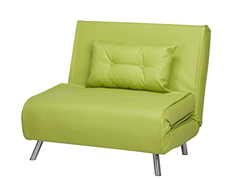 Schlafsessel Jugendsessel Gästebett Como Klappsessel Kunstleder grün groß
