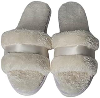 white fur slipper for women