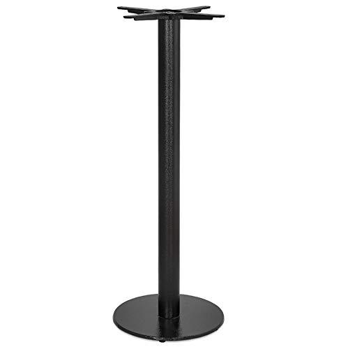 Alterego Pied de Table Rond 'Cortado' 110 en métal Noir intérieur/extérieur