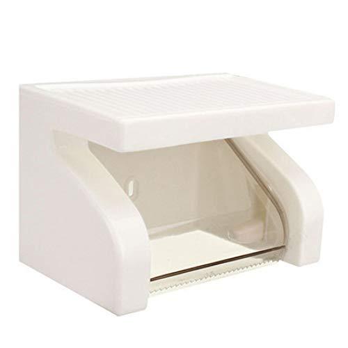 Toiletpapierhouder, waterdicht, witte kunststof toiletpapierhouder, rek, nieuwe moderne en stijlvolle badkamerproducten Schroevendraaiers.