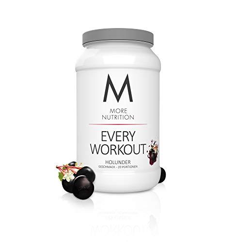 MORE NUTRITION Every Workout (1 x 700 g Pulver) - Fitness Booster mit Creatin für mehr Power und Pump beim Krafttraining (Holunder)