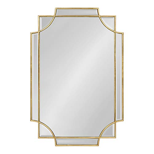 Vintage Gold Mirror Kate and Laurel Minuette 24x35.5 Inches