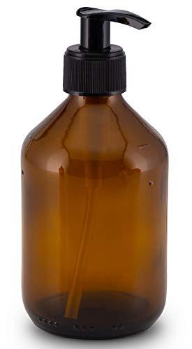 Lifestyle Lover Seifenspender aus Braunglas, Bernsteinfarben für Seife Spüli Shampoo Lotionen Braun Glas 300ml
