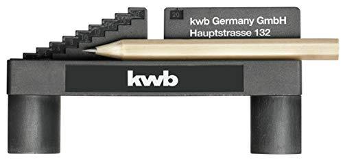kwb 757800 Mittenfinder/Center-Finder zur Mittel-Punkt Ermittlung inkl. Bleistift und Magnet-Funktion