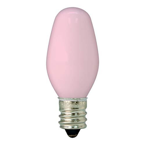 GE Lighting 26222 4-Watt 14-Lumen C7 Night Light Bulb, Pink, 2-Pack