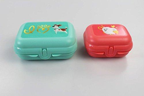 TUPPERWARE To Go Mini-Twin Pets pastellorange Größe 1+Twin mint Größe 2 Brotdose