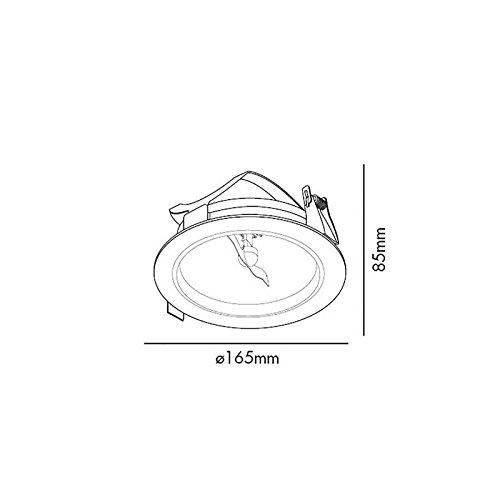 Barcelona Optic 03203101 Projecteur encastrable aluminium injecté-100W Blanc