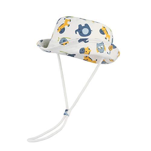 Binse  Baby Sonnenhut UV Schutz Fischerhut Baumwoll Kleinkind Strandhut Sommerhut Kappe Mütze Hutumfang, 1-2 Jahre, Farbe 1