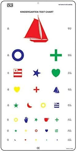 KASHSURG Kindergarten Distance Vision Super-cheap Chart 6 with Color Symbols New Orleans Mall