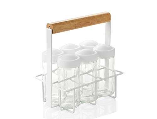 Slimline Wall Mounted Shoe Storage Rack White by The Metal House