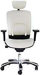 GM Seating White Ergonomic Chair