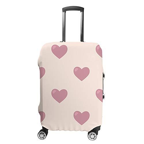 Ruchen - Funda Protectora para Maleta con diseño de corazón romántico para niña