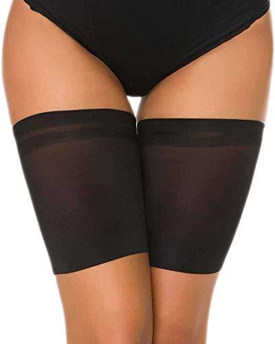 UMIPUBO Bande de Cuisse Anti-frottement Cuisse Bandes Élastiques Silicone Femmes Chaussette Cuisse Lisse Cuisse Socks Bandeaux de Cuisse 1 Paire (C:64-69cm, Noir)