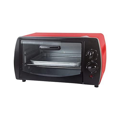 Hchao Mini Horno Multifuncional, Horno eléctrico para Hornear hogar, máquina de Desayuno de Escritorio de convección, 0-230 ℃ Temperatura Ajustable, Forro Curvado Antiadherente