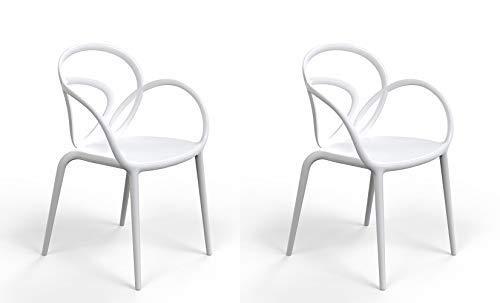 QEEBOO tuinstoel, kunststof, 52 x 56 x 84 cm Modern design 52x56x84 cm Wit.